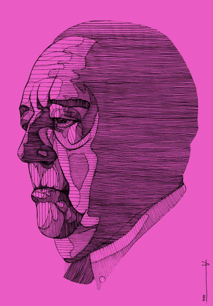 """Architecture of the Portrait"": Illustrations by Francisca Álvarez Ainzúa,Mies Van Der Rohe. Image © Francisca Álvarez Ainzúa"