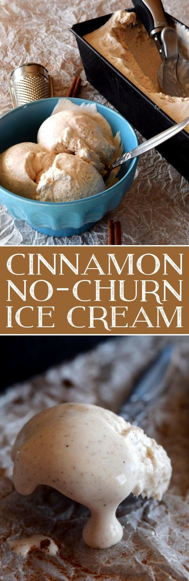 Cinnamon No Churn Ice Cream