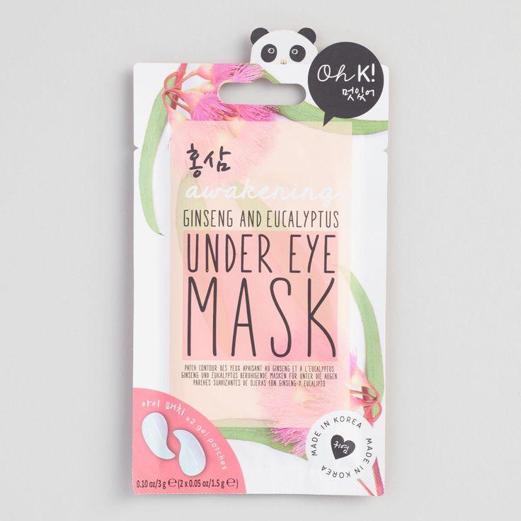 Oh K! Ginseng and Eucalyptus Korean Beauty Under Eye Mask by World Market