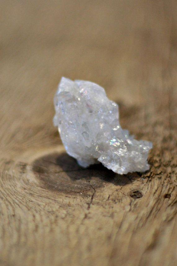 Tiny opal aura quartz cluster, from LaShopLegendaire on Etsy
