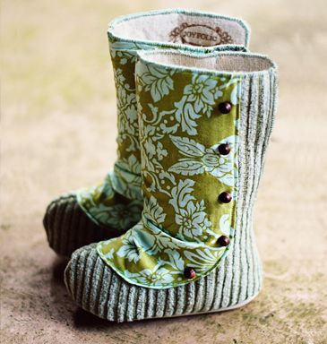 Baby boots. These would be so cute for church when it's cold outside.