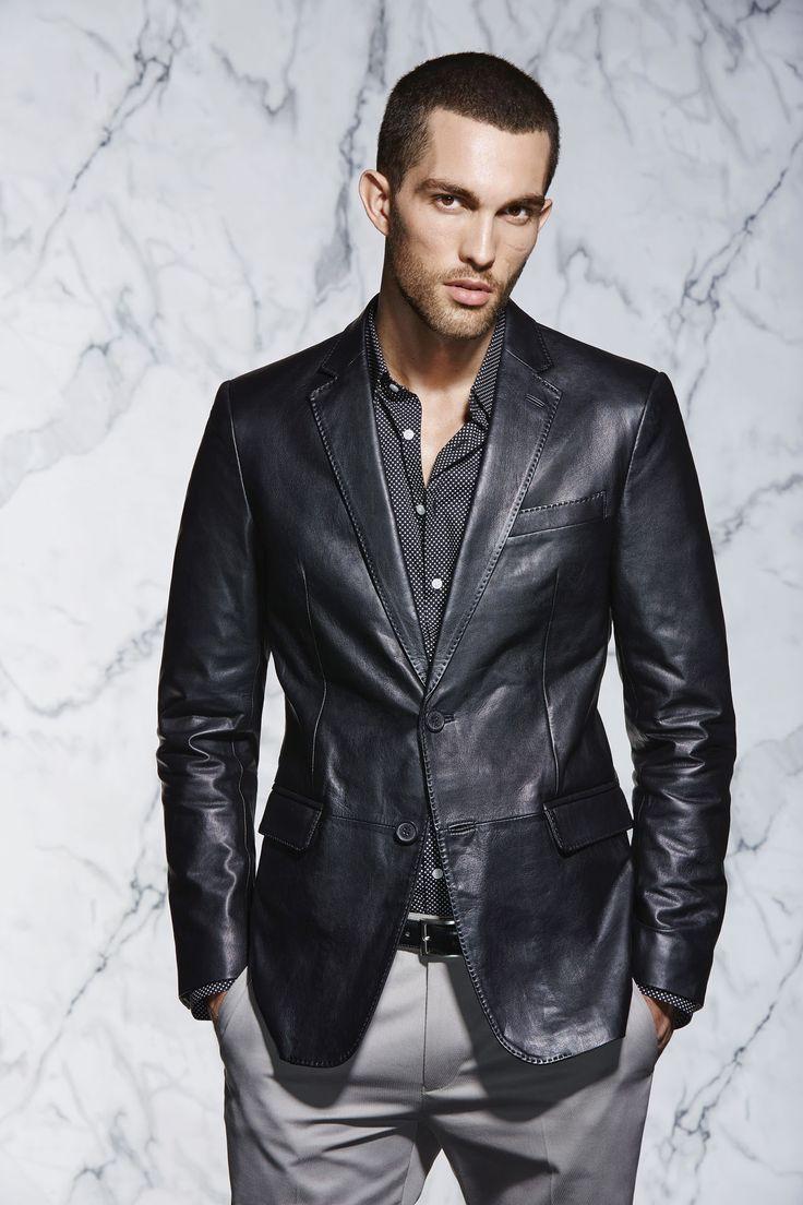 The Leather Blazer | http://www.calibre.com.au/shop/leather-blazer-p2065/black-pc1386
