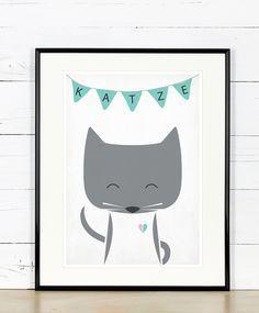 Herzlich willkommen im Emugallery! Ein hochwertiger Druck, ein süsses Bild – Katze Digital-Druck auf weißem 200g/m2 matte Papier mit Epson Pro Großformatdrucker für hübsche, langlebige,...