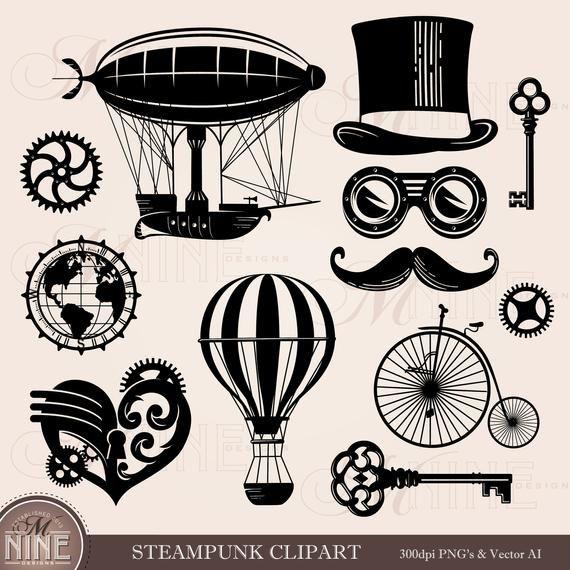 Steampunk Clipart Steampunk Style Clip Art Downloads Vector Steampunk Drawing Steampunk Wallpaper Downloadable Art