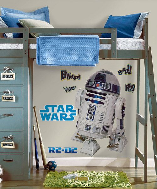 Take a look at the Star Wars R2D2 Peel & Stick Giant Decal on #zulily today!