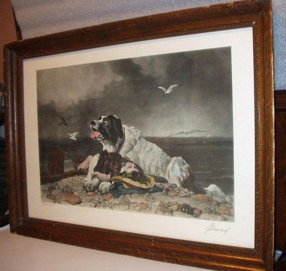 Newfoundland St Bernard Dog Little Girl Artist Landseer