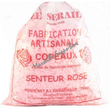 Copeaux de savon de Marseille Rose le Sérail 750g