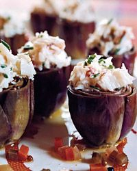 Baby Artichokes Stuffed with Crab Salad