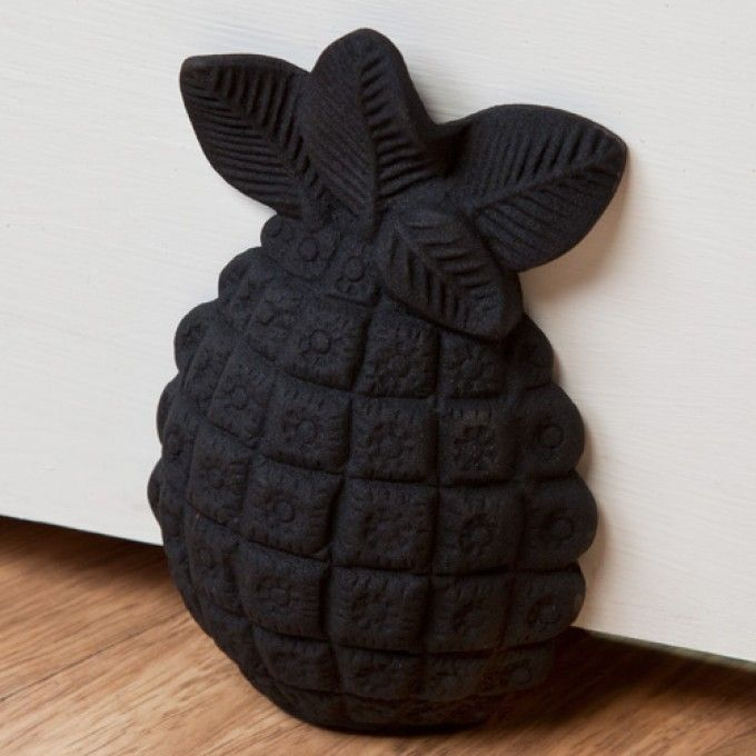 Cast Iron Pineapple Wedge Doorstop