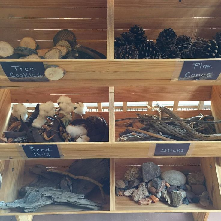 Loose parts/ Natural materials - parent collection bin == Instagram photo by @pppreschool