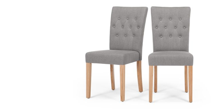 2 x Flynn Dining Chairs, Graphite Grey £149 for 2 think they would look smart with the dark slate place mats and runners.
