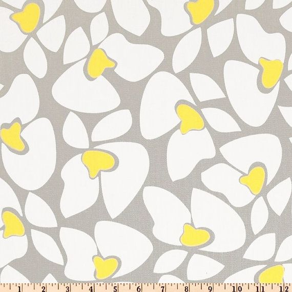 FAT QUARTER Grey Yellow Fabric Premier Prints Helen Twill Storm grey corn Yellow cotton Home decor fabrics - SHIPSFAST