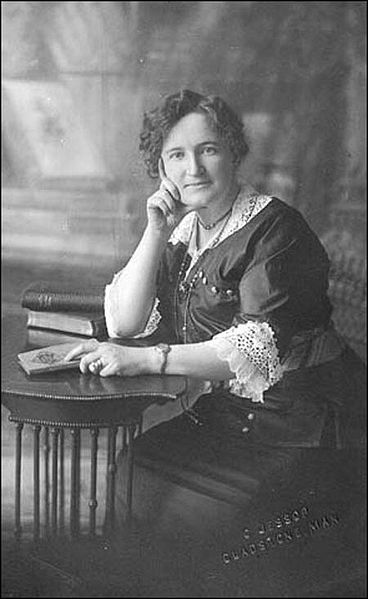 "Nellie McClung, nee Mooney (1873 -1951), was a Canadian feminist, politician, and social activist. In 1927, McClung and four other women - ""The Famous Five"" launched the ""Persons Case,"" contending that women could be ""qualified persons"" eligible to sit in the Senate. They won on appeal. File:Nellie McClung.jpg"