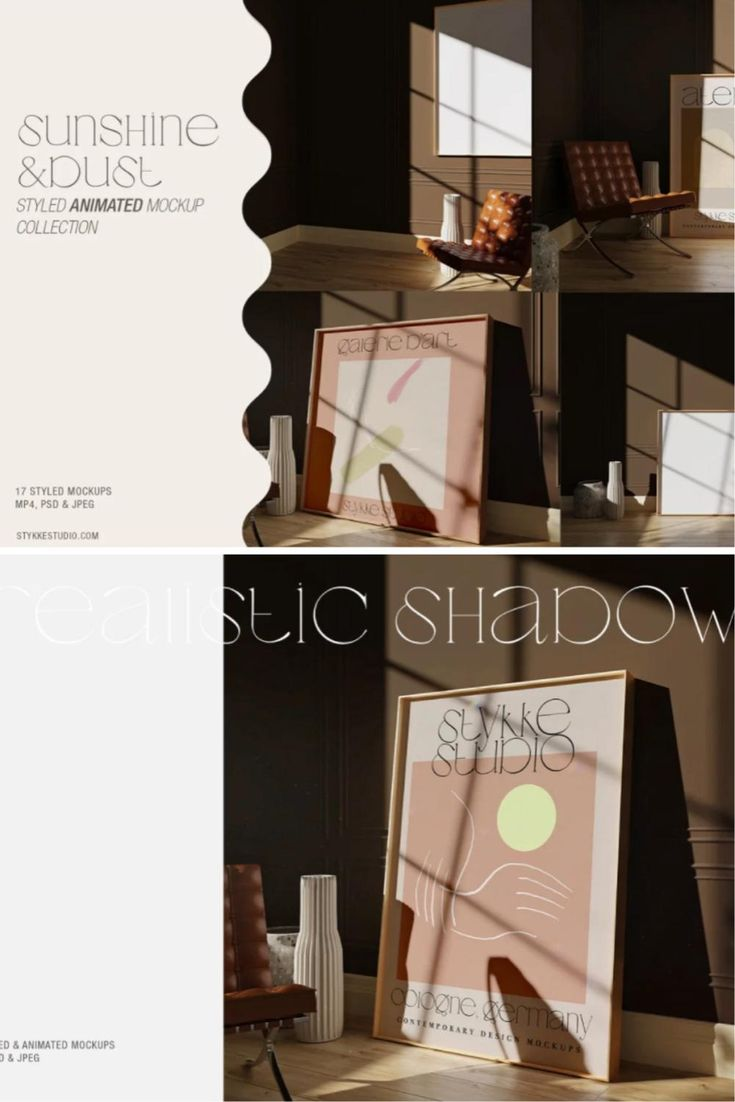 ANIMATED Frame Mockup Sunlight Dust