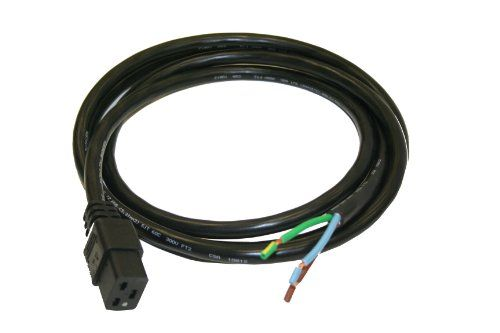 Interpower 86295240 North American Connector Power Cord, IEC 60320 C19 Connector Type, Black Cable Color, 20A Amperage, 250VAC Voltage, 2.5m Length  Interpower 86295240 North American Connector Power Cord, IEC 60320 C19 Connector Type, Black Cable Color, 20A Amperage, 250VAC Voltage, 2.5m Length   This Interpower 86295240 unterminated North American power cord with an International Electrotechnical Commission (IEC) 60320 C19 connector is 2.5 m long, made of PVC, and is suitable for a..