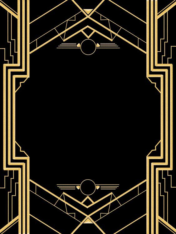 And Borders Symbols Black Party Gold