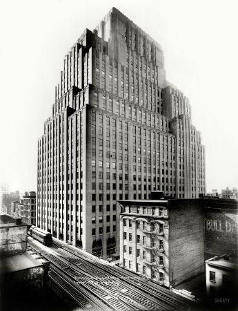 "New York, 1931. ""Western Union Telegraph Building, West Broadway."""