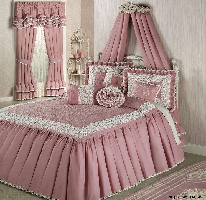 Текстиль в спальне. Шикарные идеи (8) (700x679, 396Kb)
