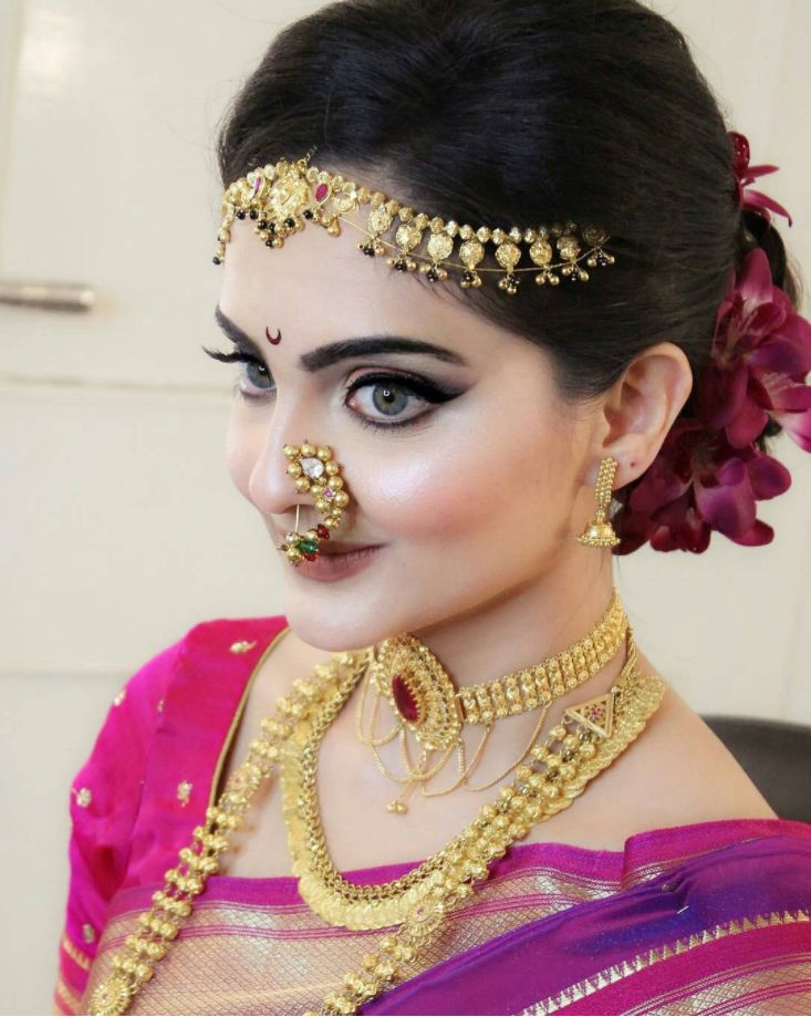indian wedding hairstyle gallery%0A Maharashtrian Bride   indian  bride  indianbride  Wedding  mua  makeup