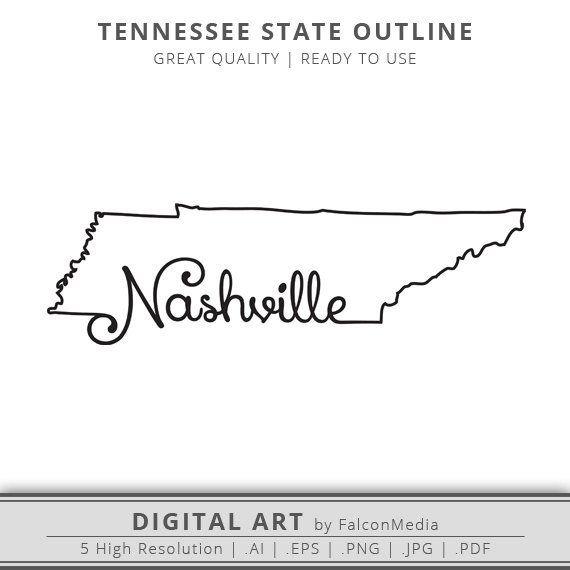 State Outlines Maps Stencils Patterns Clip Art All 50 States Tennessee Outline Tennessee Map State Outline