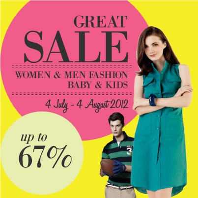 Get this GREAT SALE only at www.blibli.com until 4 August 2012 #Sale #Shopping #Great #Sale #Women #Men