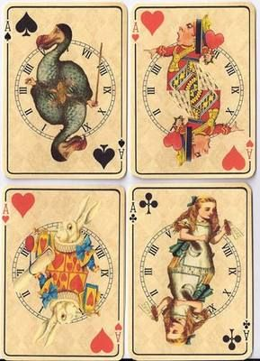 Alice in wonderland vintage cards.