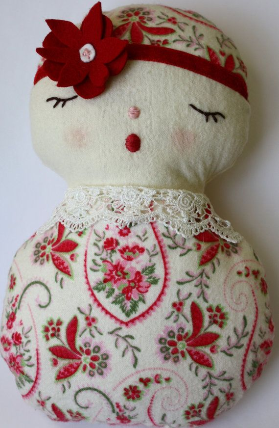 handmade cloth baby doll via etsy