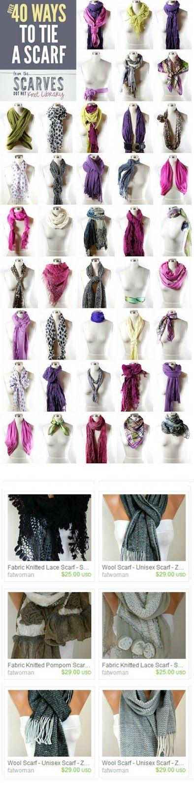 40 ways to tie a scarf!
