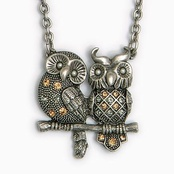 owl pair necklace