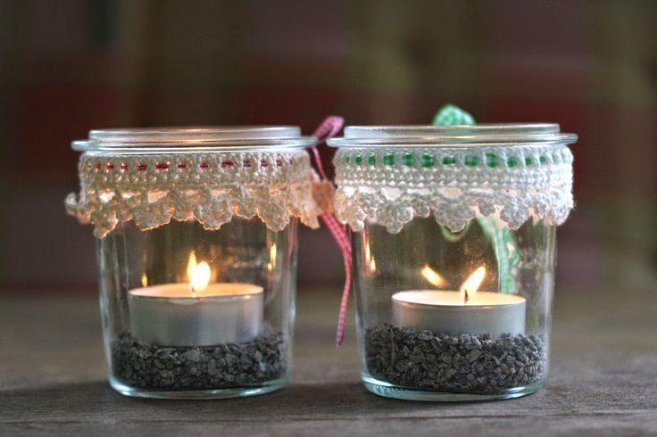freizeitschneidern rund um das einmachglas crochet pinterest windlichter einfach h keln. Black Bedroom Furniture Sets. Home Design Ideas