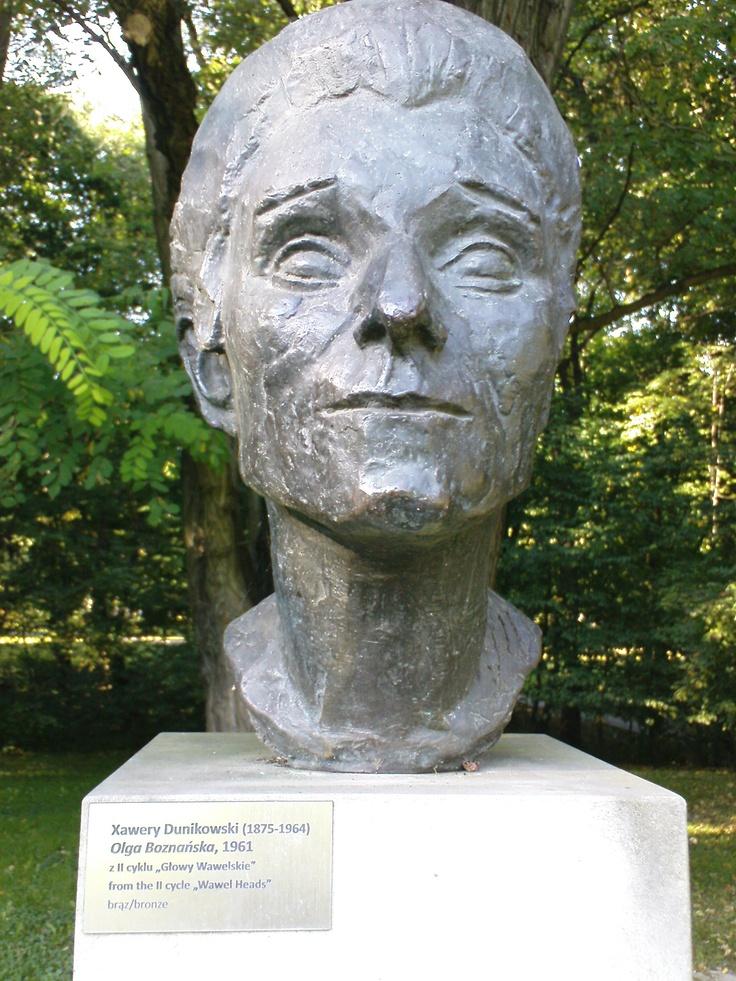 xawery dunikowski, olga boznańska (z cyklu: głowy wawelskie), 1961, brąz, królikarnia-warszawa