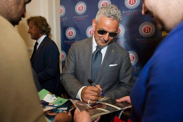 Roberto Baggio @BoscoloExedraRoma  #celebrities #BoscoloHotels #matchforpeace #BoscoloExedraRoma