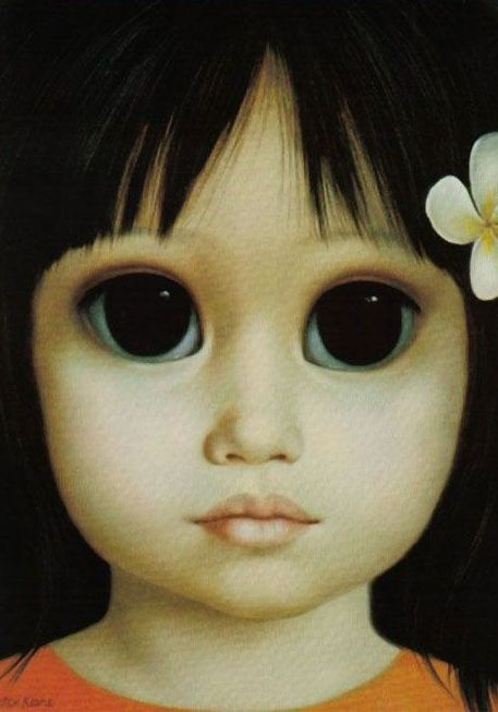 """Margaret Keane Big Eyed Waifs Margaret D. H. Keane (born Peggy Doris Hawkins; September 15, 1927) is an American artist. Creator of the """"big eyed waifs"""", which feature children with large eyes. Keane is famous for drawing paintings with big eyes and mainly paints women, children, and ani…"""