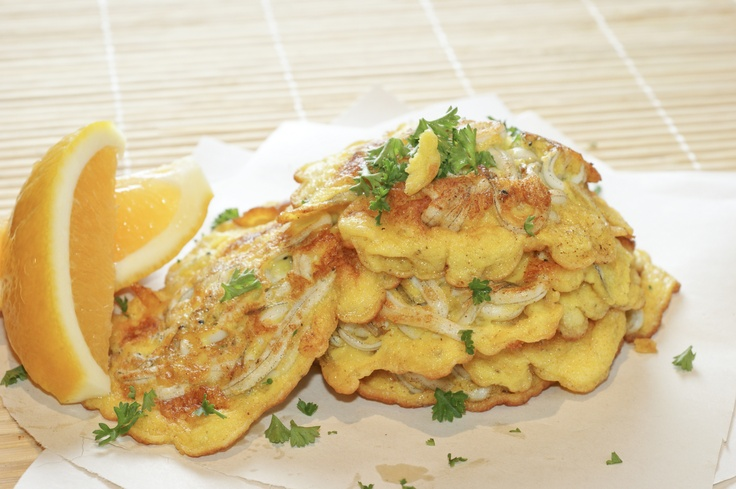 White- bait fritters. Only in NZ!