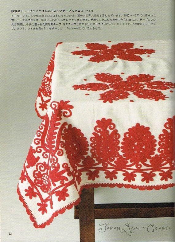 Transylvania Traditional Embroidery Irásos by JapanLovelyCrafts