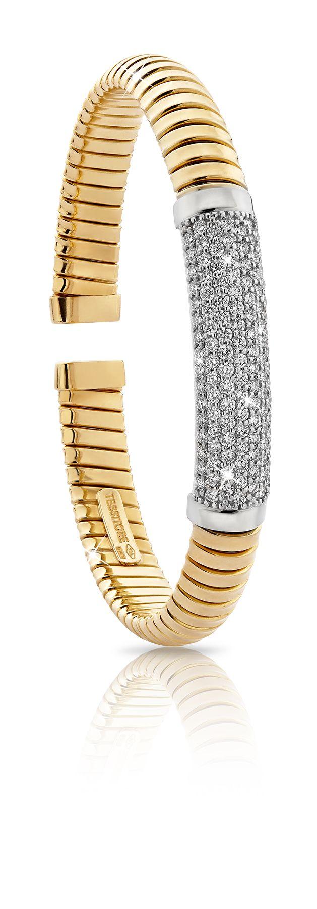 Braccialetto in oro giallo e diamanti