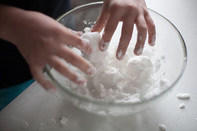 Bicarbonato + agua = nieve !!!!!!!!!!