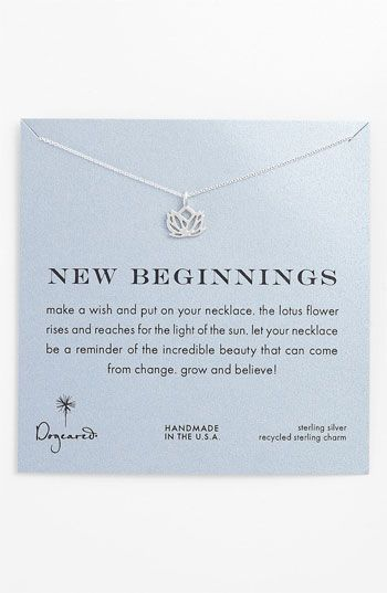 Dogeared 'New Beginnings' Lotus Pendant Necklace available at #Nordstrom
