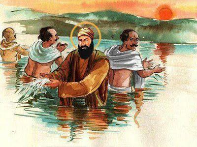 Guru Nanak Dev Ji in Haridwar - Helping Brahmins of India quit useless rituals.