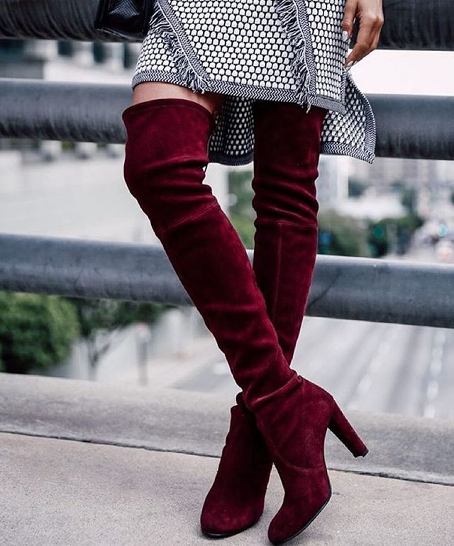 Trending: OTK boots. // Follow @ShopStyle on Instagram to shop this look
