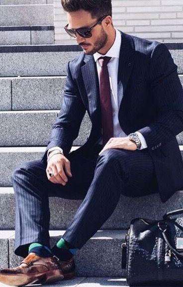 suit, socks & shoes