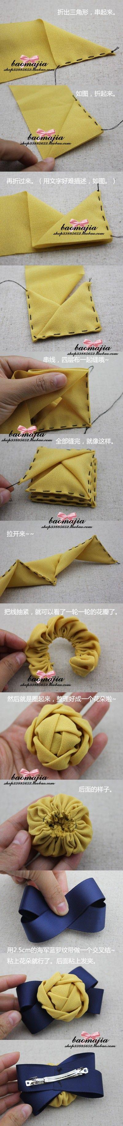fiori di stoffa fabric flower