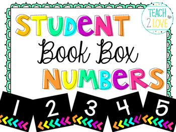 Use these modern styled student numbers to brighten your classroom! I use them for our student book boxes but they would work wonderuflly as cubby numbers, file charts, line up place markers, desk magnets, math centers, literacy centers, or anything that you number in your classroom!