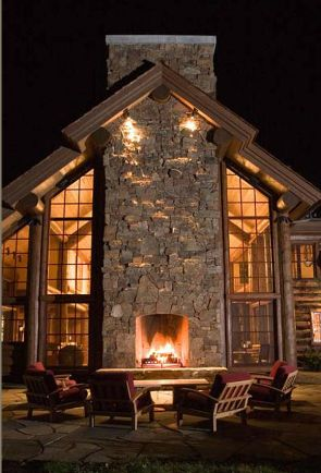 [Outdoor fireplace] ... now that is an outdoor space