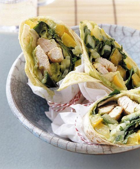 Wraps mit Putenbrust und Avocado Rezept - [ESSEN UND TRINKEN]