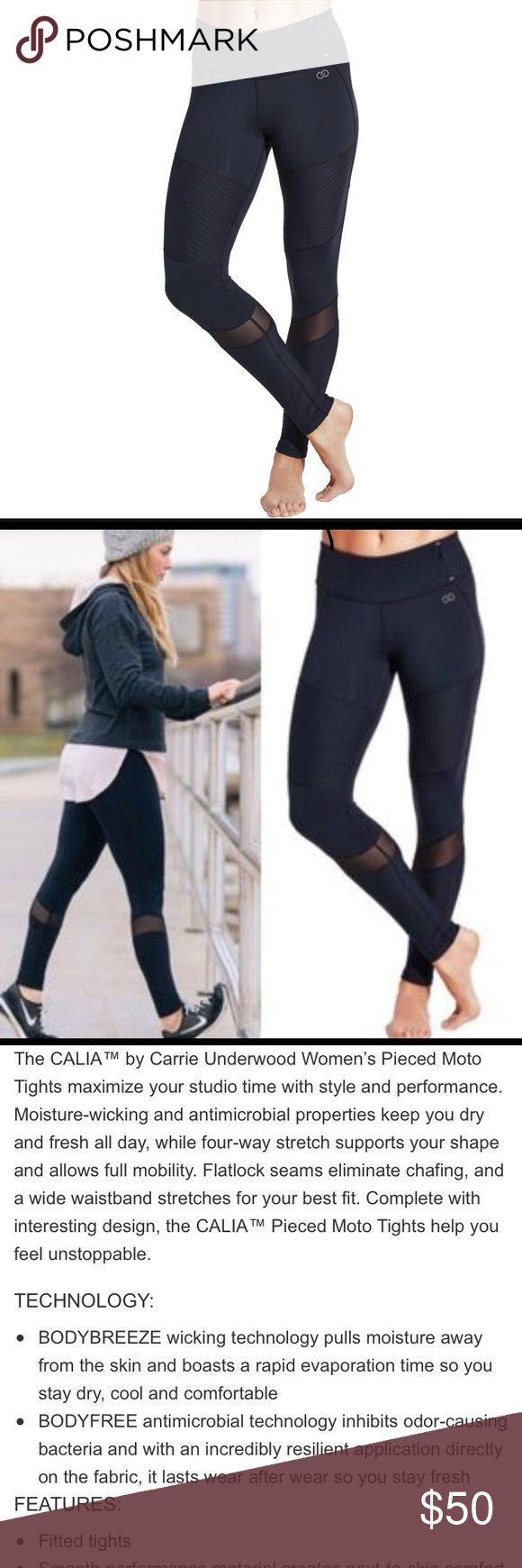Carrie Underwood SOLDOUT Leggings in Black CALIA by carrie pieced moto leggings in black. Never worn - removed tickets with intention to wear but they're too big on me and are now sold out everywhere. CALIA by Carrie Underwood Pants Leggings