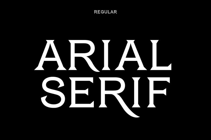 This is Arial Serif