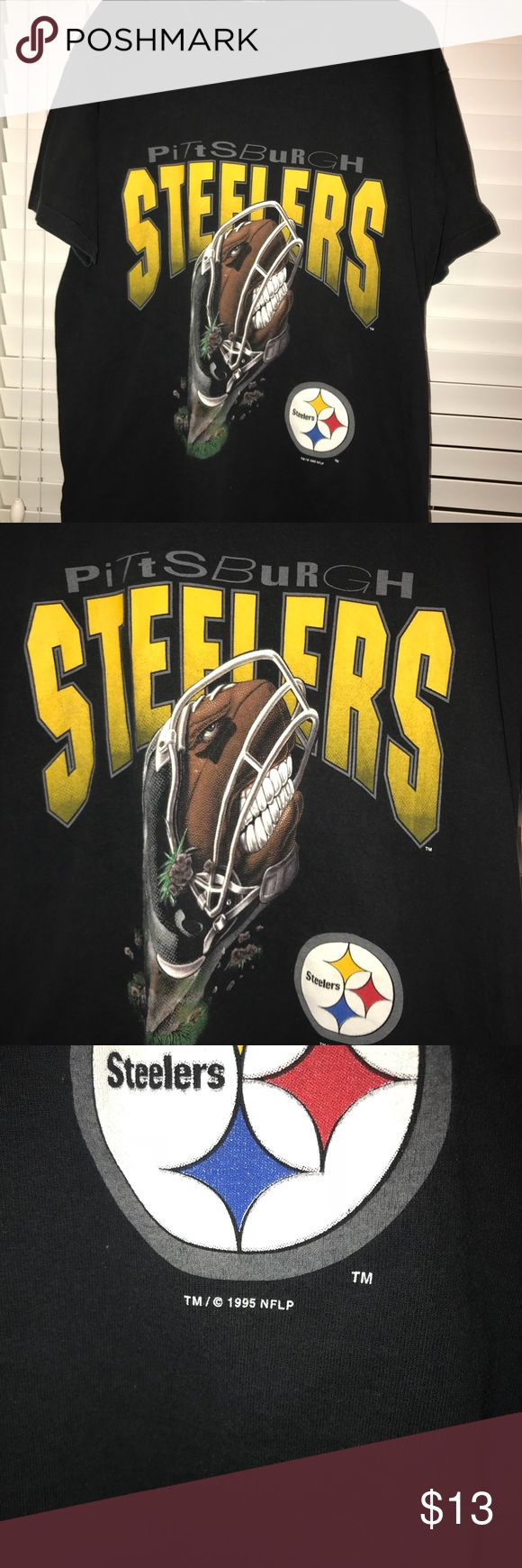 Vintage 1995 Pittsburgh Steelers T-shirt Great Condition Fits Adult XL 1995 Shirts Tees - Short Sleeve