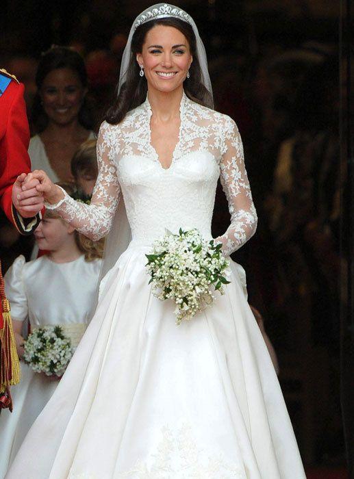 It's super cliché, but I love her wedding dress.