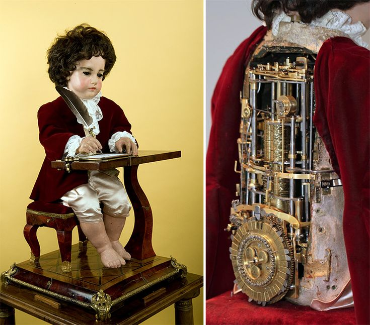 The Writer, An 18th Century Mechanical Boy Automaton That Can Write Messages With a Pen
